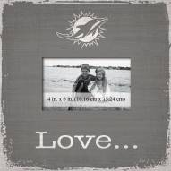 Miami Dolphins Love Picture Frame