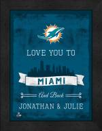 Miami Dolphins Love You to and Back Framed Print