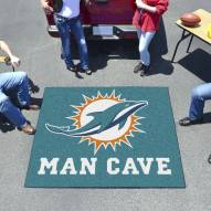 Miami Dolphins Man Cave Tailgate Mat