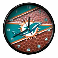 Miami Dolphins Football Clock