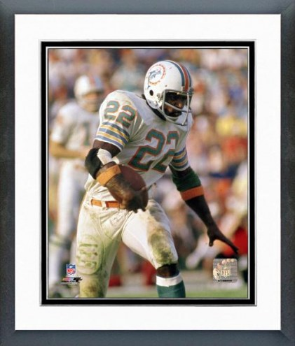 Miami Dolphins Mercury Morris - With Ball Framed Photo