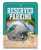 Miami Dolphins Metal Parking Sign