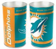 Miami Dolphins Metal Wastebasket