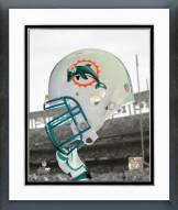 Miami Dolphins Miami Dolphins Helmet Spotlight Framed Photo
