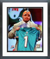 Miami Dolphins Mike Pouncey NFL Draft #15 Pick Framed Photo