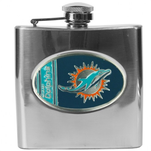 Miami Dolphins NFL 6 Oz. Stainless Steel Hip Flask