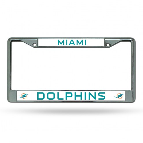 Miami Dolphins NFL Chrome License Plate Frame