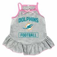 Miami Dolphins NFL Gray Dog Dress