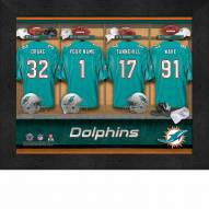 Miami Dolphins NFL Personalized Locker Room 11 x 14 Framed Photograph