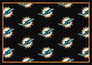 Miami Dolphins NFL Repeat Area Rug