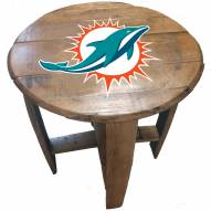 Miami Dolphins Oak Barrel Table