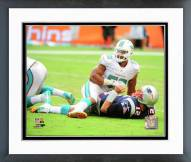 Miami Dolphins Olivier Vernon Action Framed Photo