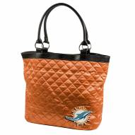 Miami Dolphins Orange Quilted Tote Bag