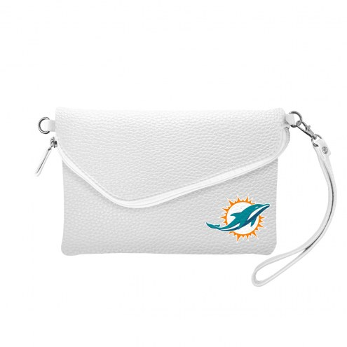 Miami Dolphins Pebble Fold Over Purse