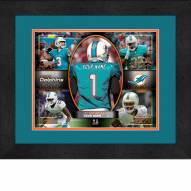 Miami Dolphins Personalized 13 x 16 Framed Action Collage