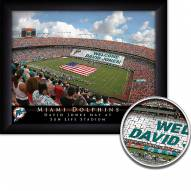 Miami Dolphins 11 x 14 Personalized Framed Stadium Print