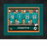 Miami Dolphins Personalized Locker Room 13 x 16 Framed Photograph