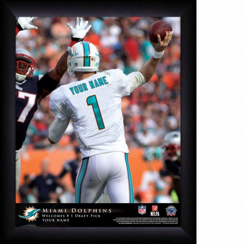 Miami Dolphins Personalized 11 x 14 NFL Action QB Framed Print