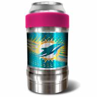Miami Dolphins Pink 12 oz. Locker Vacuum Insulated Can Holder