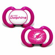 Miami Dolphins Pink Baby Pacifier 2-Pack