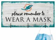 Miami Dolphins Please Wear Your Mask Sign