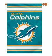 Miami Dolphins NFL Premium 2-Sided House Flag