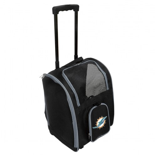 Miami Dolphins Premium Pet Carrier with Wheels