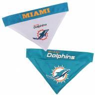 Miami Dolphins Reversible Dog Bandana