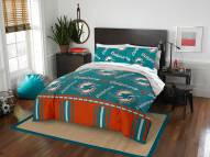 Miami Dolphins Rotary Queen Bed in a Bag Set