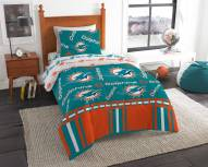 Miami Dolphins Rotary Twin Bed in a Bag Set