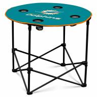 Miami Dolphins Round Folding Table