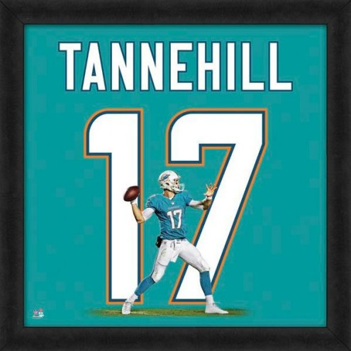 Miami Dolphins Ryan Tannehill Uniframe Framed Jersey Photo