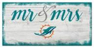 Miami Dolphins Script Mr. & Mrs. Sign