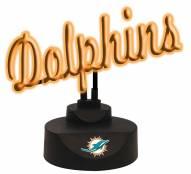 Miami Dolphins Script Neon Desk Lamp