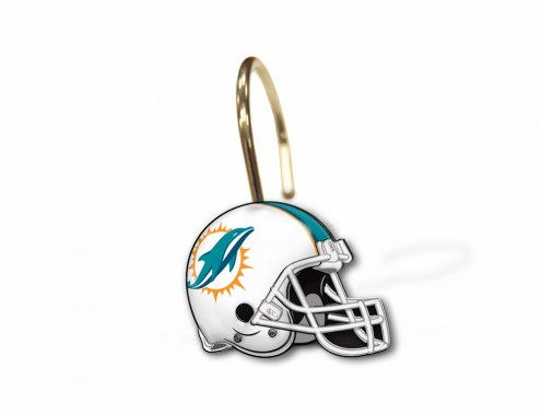 Miami Dolphins Shower Curtain Rings