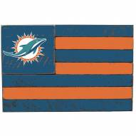 Miami Dolphins Small Flag Wall Art