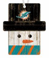 Miami Dolphins Snowman Ornament