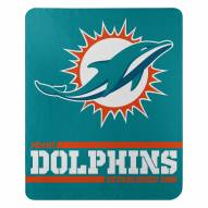 Miami Dolphins Split Wide Fleece Blanket