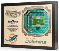 Miami Dolphins 25-Layer StadiumViews 3D Wall Art