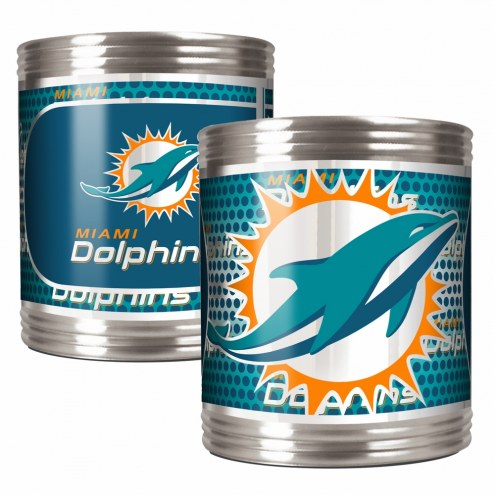 Miami Dolphins Stainless Steel Hi-Def Coozie Set
