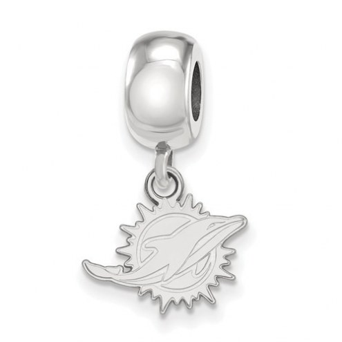 Miami Dolphins Sterling Silver Extra Small Dangle Bead Charm