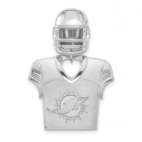Miami Dolphins Sterling Silver Jersey & Helmet Pendant