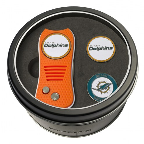 Miami Dolphins Switchfix Golf Divot Tool & Ball Markers