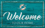Miami Dolphins Team Color Welcome Sign