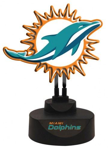 Miami Dolphins Team Logo Neon Light