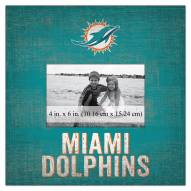 """Miami Dolphins Team Name 10"""" x 10"""" Picture Frame"""