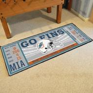 Miami Dolphins Ticket Runner Rug