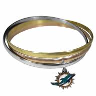 Miami Dolphins Tri-color Bangle Bracelet