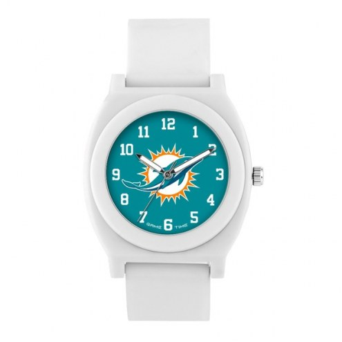 Miami Dolphins Unisex Fan White Watch