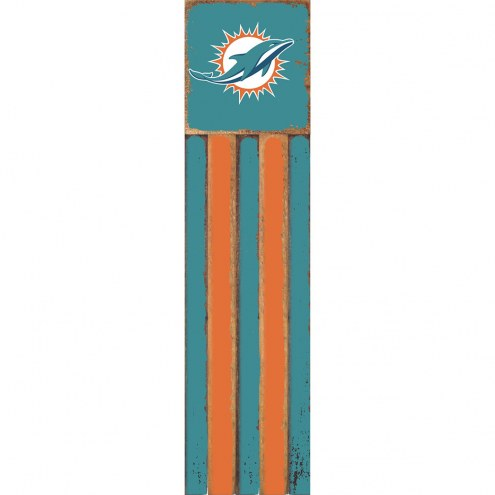 Miami Dolphins Vertical Flag Wall Sign